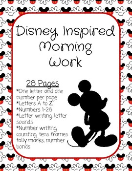 Disney Inspired Morning Work
