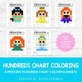 Disney Princess Inspired Hundreds Chart Coloring Pages Sec