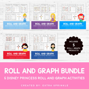 Disney Inspired Princess Roll and Graph Activities Bundle