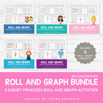 Disney Inspired Princess Roll and Graph Activities Bundle 2nd Edition