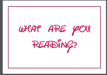 "Disney Inspired Reading Poster ""What are you reading?"""