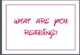 """Disney Inspired Reading Poster """"What are you reading?"""""""