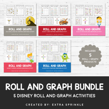 Disney Inspired Roll and Graph Activities Bundle