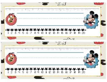 Disney-Inspired Themed Desk Name Plates