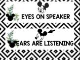 Disney Inspired Whole Body Listening Chart Boho Farmhouse Classroom Decor