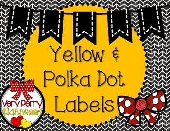 Red, Yellow and Black labels!