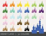 Disney Land Digital Clipart, Disney Land Graphics, Disney