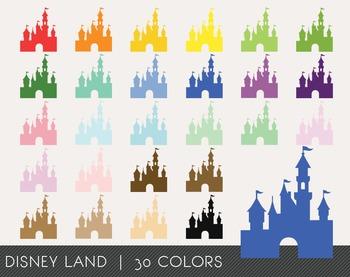 Disney Land Digital Clipart, Disney Land Graphics, Disney