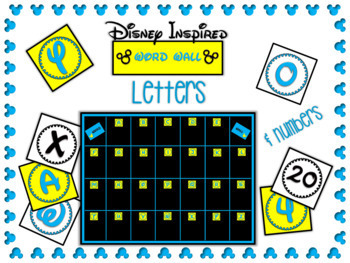 Disney Letters & Numbers Freebie
