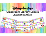 Disney Library Labels