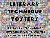 Literary Techniques Posters - understandling literary tech