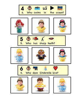 Disney Little People Princess Questions (Comprehension, WH Questions)