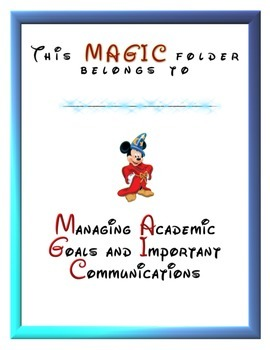 Disney MAGIC Homework and Communication Folder