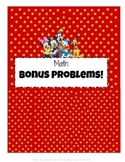 Disney Math Bonus Problems