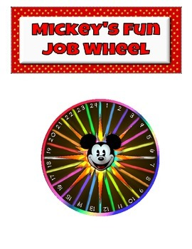 Disney- Mickey Mouse Class Jobs Fun Wheel Tasks