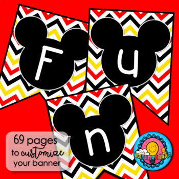 Disney Mickey Mouse Inspired Classroom Banner Set