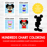 Disney Mickey Mouse Inspired Hundreds Chart Coloring Pages
