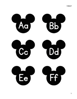 Disney/Mickey Mouse-Themed Word Wall Letters (3 SIZES!)