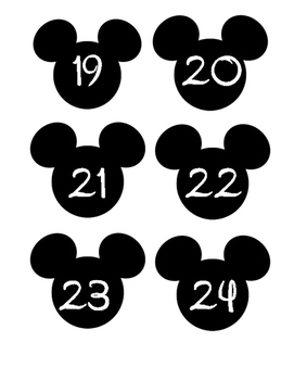 Disney Mickey Mouse head labels #1-36