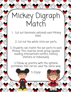 Disney/Mickey Themed Digraph Practice