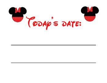Disney Mickey Themed Math Calendar