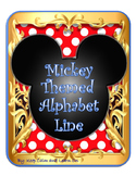Disney Mickey themed Alphabet Line