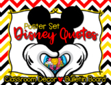 Disney Themed Motivational Quotes Poster Set Bulletin Boar