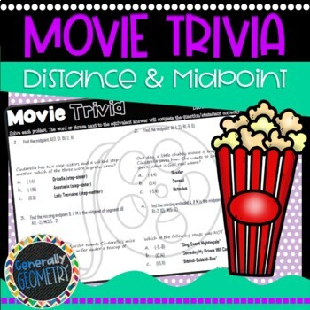 Disney Movie Fun, Cinderella: Distance and Midpoint; Geometry, Coordinate Plane