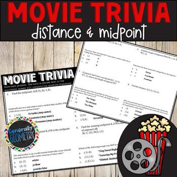 Disney Movie Fun, Cinderella: Distance and Midpoint; Geome