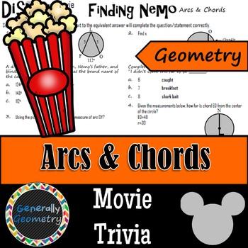 Disney Movie Fun Finding Nemo Arcs Chords Circles Geometry