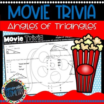 Disney Movie Fun, Frozen: Angles in Triangles, Angle Sum Theorem
