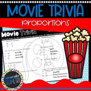 Disney Movie Fun, The Lion King: Solving Proportions; Geometry, Algebra, Ratios