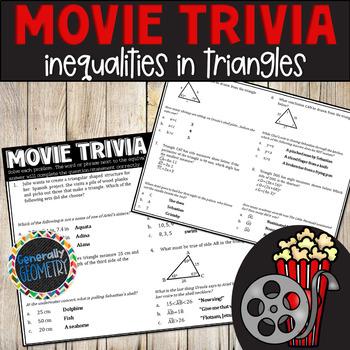 Disney Movie Fun, The Little Mermaid: Triangle Inequalities; Geometry