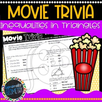 Disney Movie Fun, The Little Mermaid: Triangle Inequalities; Geometry