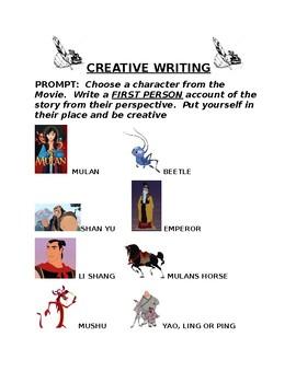 Disney Mulan Creative Writing Prompt
