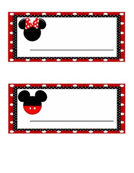 Disney Name Tags