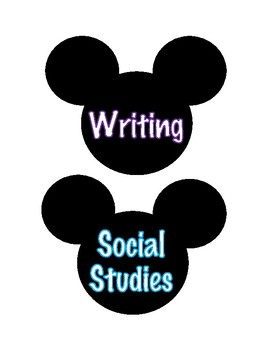 Disney Notebook Labels
