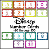 Disney Number Cards -20 through 100