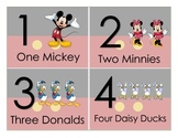 Disney Number Flashcards 1-10