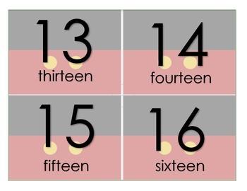 Disney Number Flashcards 1-20