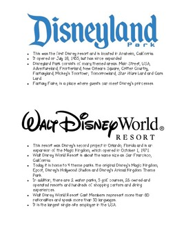 Disney Parks & Resorts Packet