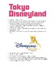 Disney Parks & Resorts Information & Fact/Opinion Chart