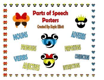 Disney Parts of Speech Posters