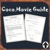 Disney Pixar Coco Movie Guide for Spanish Class No Prep Sub Plan Editable