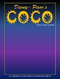 Disney- Pixar's Coco Movie Viewing Guide (Editable!)