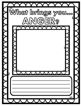 Disney Pixar's Inside Out Inspired Emotion Graphic Organizers