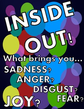 Inside Out Inspired Emotion Graphic Organizers