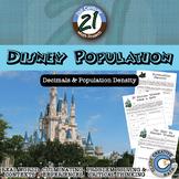 Disney Population -- Decimals and Population Density Project