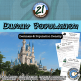 Disney Population -- Decimals & Population Density - 21st Century Math Project