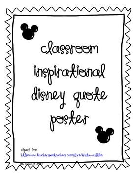 Disney Poster for Classroom